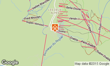 Map Les 2 Alpes Apartment 65681