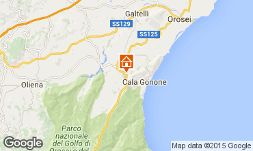 Map Cala Gonone Apartment 29191