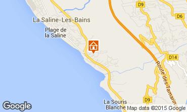 Map La Saline les Bains Bungalow 73691