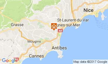 Map Antibes Apartment 98045