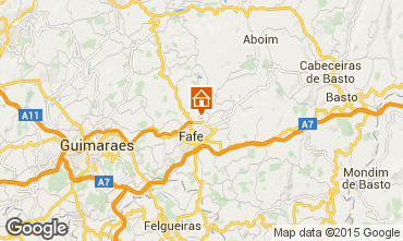Map Guimarães Self-catering property 50906