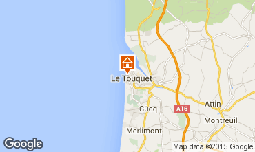 Map Le Touquet Studio apartment 38630
