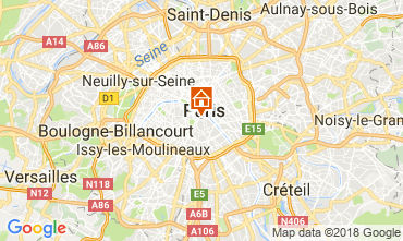Map PARIS Studio apartment 113449