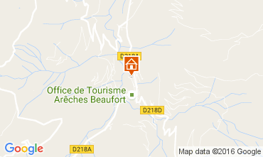 Map Areches Beaufort Chalet 107220