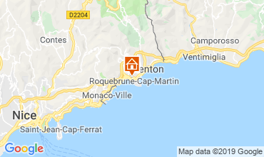 Map Menton Apartment 117812