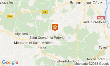 Map Uzès House 113821