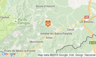 Map Amélie-Les-Bains Studio apartment 92940