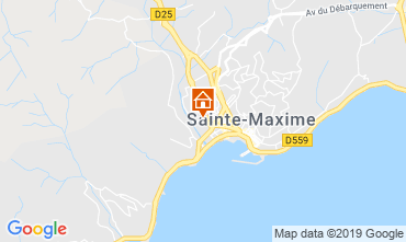 Map Sainte Maxime Studio apartment 74150