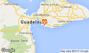 Map Gosier (Guadeloupe) Studio apartment 101387
