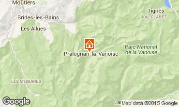 Map Pralognan la Vanoise Apartment 16983