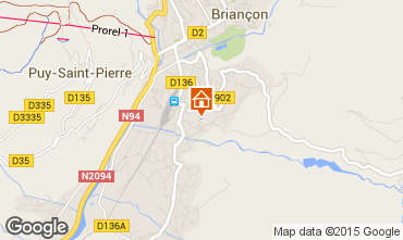 Map Briançon Apartment 93998