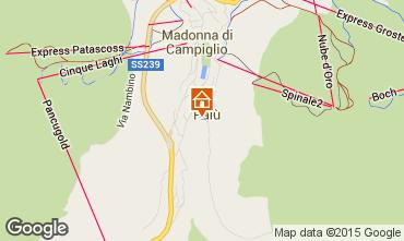 Map Madonna di Campiglio Apartment 38679