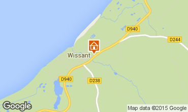Map Wissant Self-catering property 32131