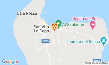 Map San Vito lo Capo Apartment 81360