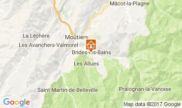 Map Brides Les Bains Apartment 107507