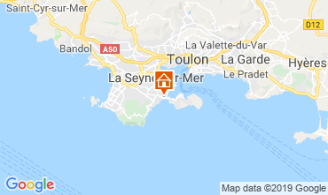 Map La Seyne sur Mer Self-catering property 117718