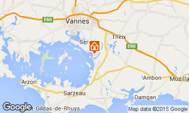 Map Vannes Self-catering property 84535