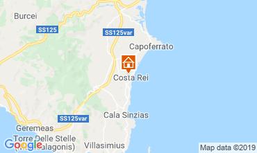 Map Costa Rei Apartment 82236