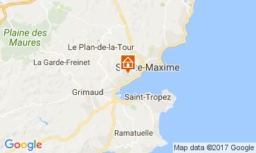 Map Saint Tropez Apartment 110369