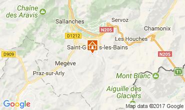 Map Saint Gervais Mont-Blanc Studio apartment 69949