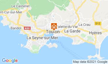 Map Toulon Studio apartment 92574