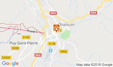 Map Briançon Studio apartment 491