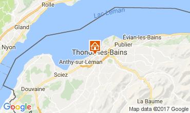 Map Thonon Les Bains Studio apartment 108306