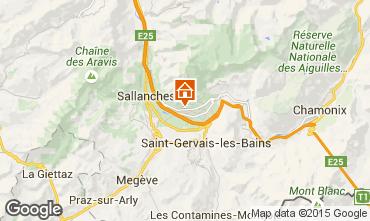 Map Chamonix Mont-Blanc Chalet 649