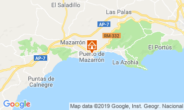 Map Puerto de Mazarrón Apartment 118323