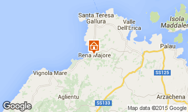Map Santa Teresa di Gallura Apartment 99073