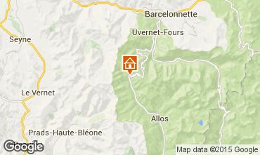Map Val d'Allos Studio apartment 3194
