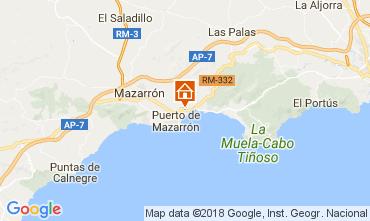 Map Puerto de Mazarrón Villa 113062