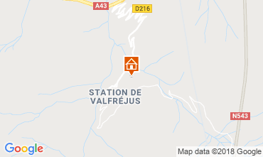 Map Valfréjus Apartment 74342