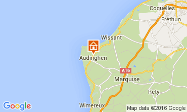 Map Wissant Villa 29607