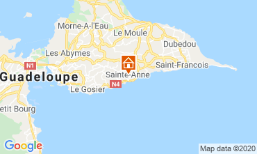 Map Sainte Anne (Guadeloupe) Bungalow 70986