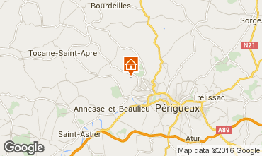 Map Périgueux Self-catering property 54756