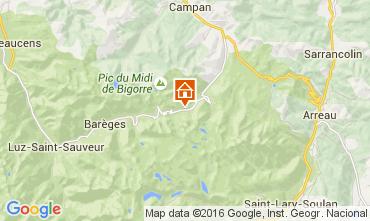 Map La Mongie Apartment 79925