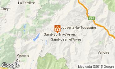 Map Saint Sorlin d'Arves One-room studio flat 2689