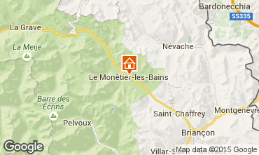 Map Serre Chevalier Chalet 2989