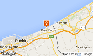 Map Bray-Dunes Studio apartment 88543