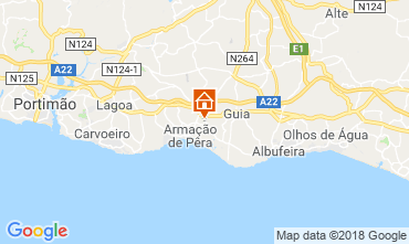 Map Armação de Pera Apartment 116403