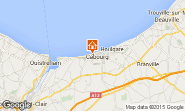 Map Cabourg Apartment 62963
