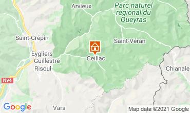 Map Ceillac en Queyras Studio apartment 561