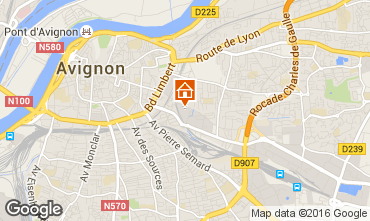 Map Avignon Studio apartment 59338