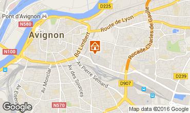 Map Avignon Studio apartment 59338