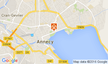 Map Annecy Apartment 106034