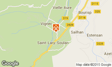 Map Saint Lary Soulan Studio apartment 80914