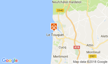 Map Le Touquet Studio apartment 104169