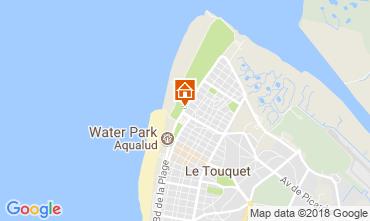 Map Le Touquet Studio apartment 104169