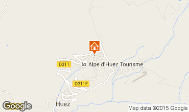 Map Alpe d'Huez Studio apartment 93526